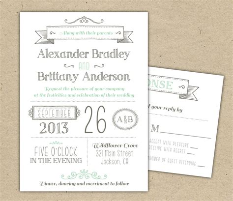 printable wedding invite templates wedding invitation 1041 sle modern invitation template