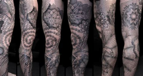 full leg tattoos designs leg by chaim machlev design of tattoosdesign