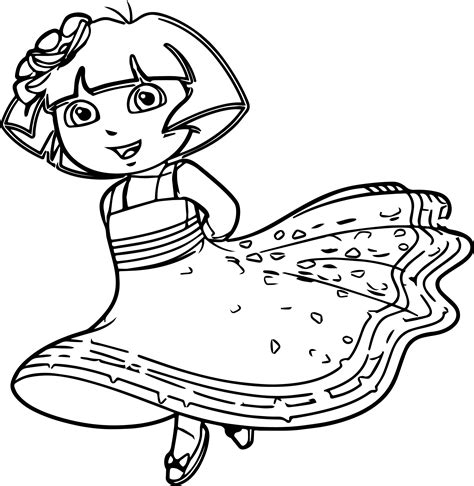 dora the explorer coloring pages nick jr nick jr princess dora the explorer queen royal junior