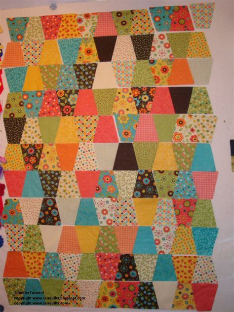 Accuquilt Quilts by Teaquilts Tutorial Tumbler Quilt Cut With Accuquilt Go