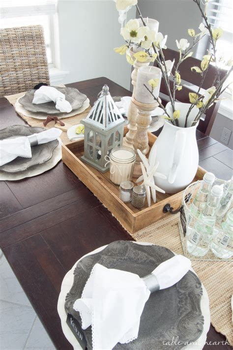 Hearth And Table by Dining Room Update A Coastal Farmhouse Table Setting
