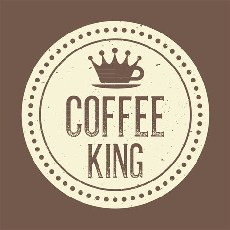 King Coffee study branding logo design for coffee king cafes
