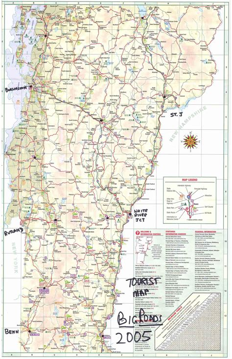 road map of vt vermont