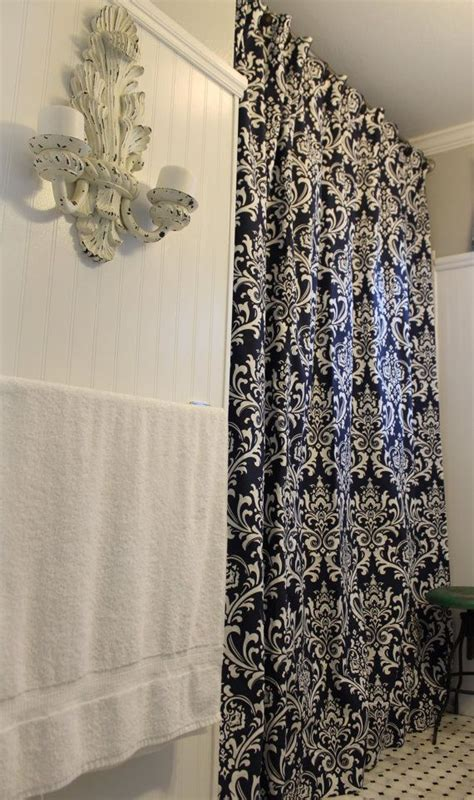 white navy curtains navy and white ozborne shower curtain 72 quot x72 quot