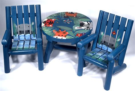 childrens painted table and chairs children s painted furniture