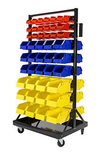 bin organizer  tray  casters  small red bins