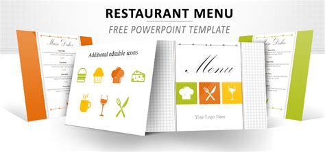 restaurant menu powerpoint template templates for