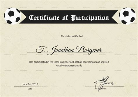 sports day certificate template sports day football certificate design template in psd word