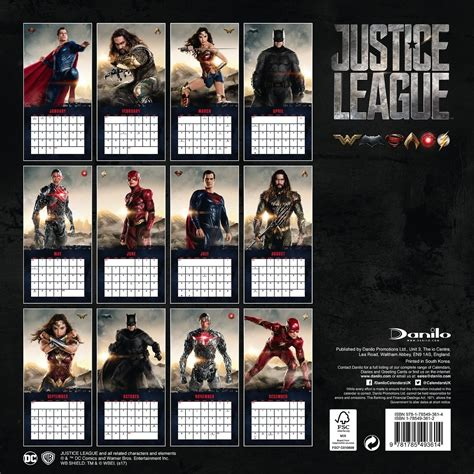 Mandiri E Money Emoney Official Edition Justice League Aquaman new superman image in justice league 2018 wall calendar