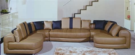 camel leather sectional tenore genuine camel leather modern sectional set