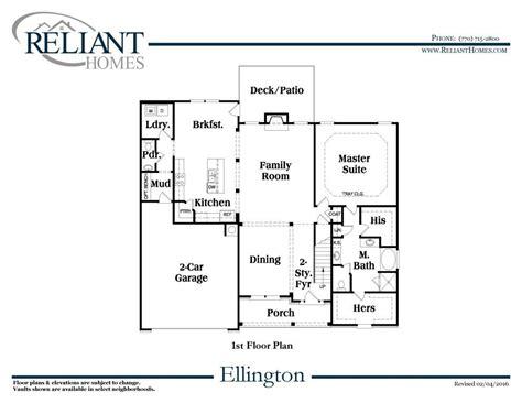 Ellington Floor Plan | ellington a fe reliant homes new homes in atlanta