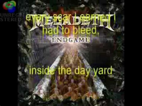 megadeth endgame lyrics megadeth s new world order video endgame including