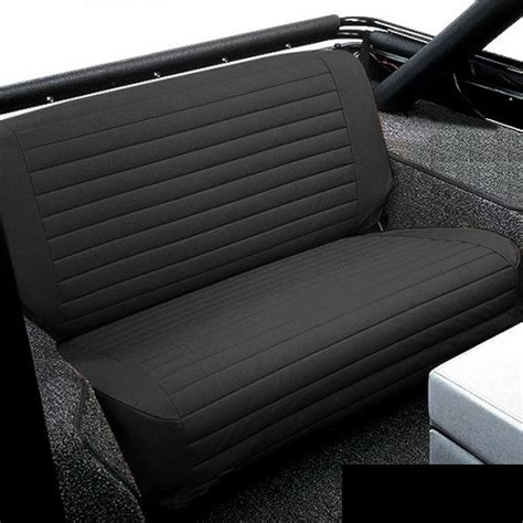 jeep bench seat cover bestop black denim rear bench seat covers for 1976 1995