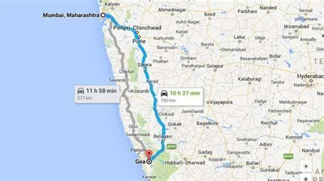 road map from mapusa to belgaum mumbai to goa road trip by car distance directions more