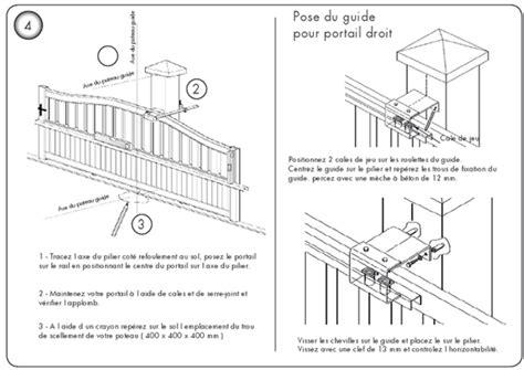Pilier Portail Alu 1808 by Installation D Un Portail Coulissant Moteur Portail