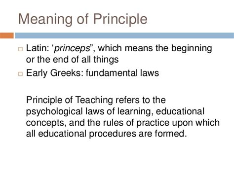 meaning of cp meaning of prncples