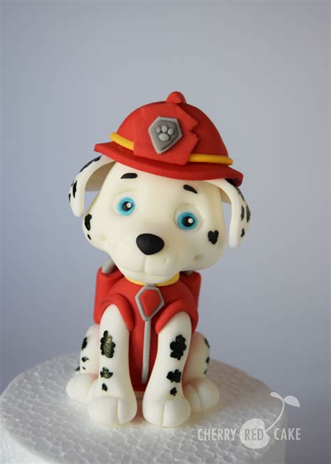 Figurine Paw Patrol marshall paw patrol fondant figurine cake topper