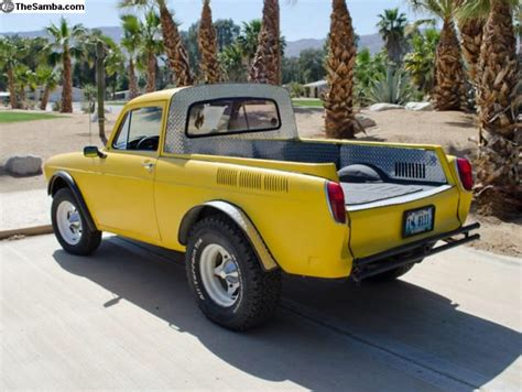 volkswagen vintage square body square back baja pickup modified vintage air cooled vw s