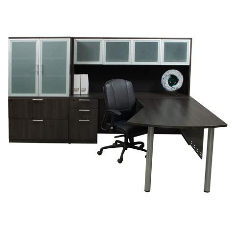 gray l shaped desk everyday modern left return laminate l shape desk gray