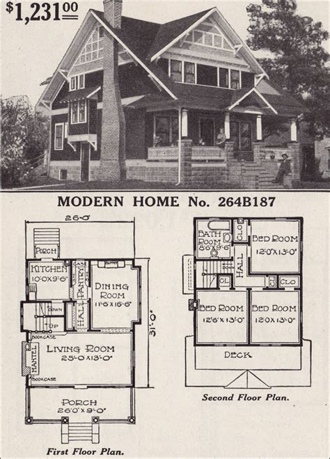 Wilson Homes Floor Plans half timbered two story craftsman style bungalow 1916