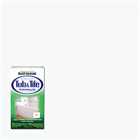 rust oleum 7860519 tub and tile refinishing 2 part kit white new ebay