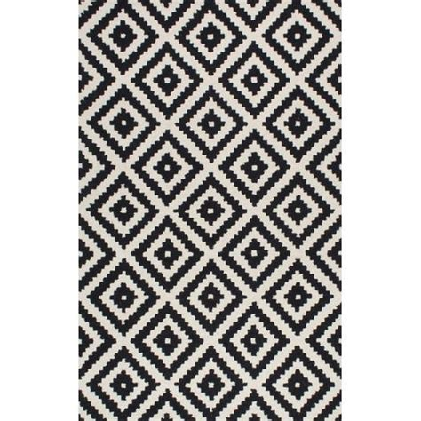 black and white area rugs obadiah tufted black area rug