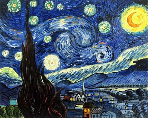 starry night van gogh starry night 8x10 reproduction painting