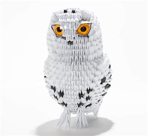 A Snowy Owl Papercraft Resting On My Laptop By - no more origami wallpaper