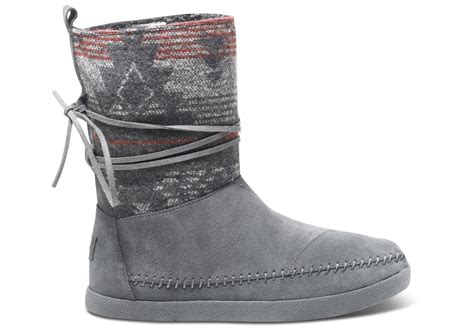 grey suede jacquard s nepal boot toms