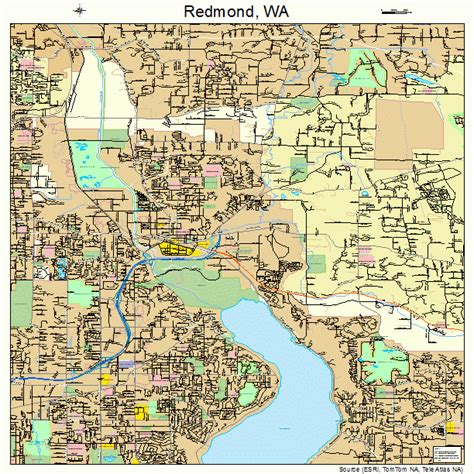 maps redmond redmond washington map 5357535