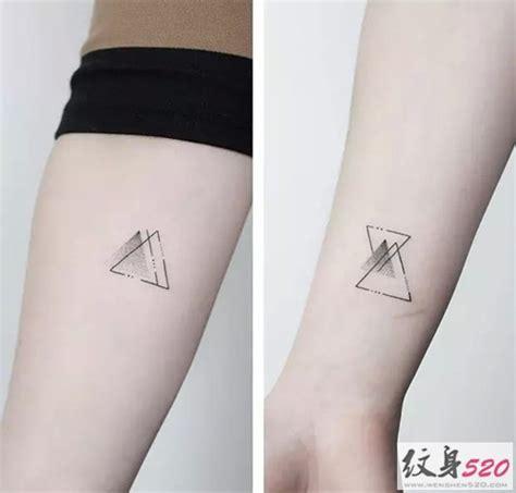 时尚点刺几何纹身图片