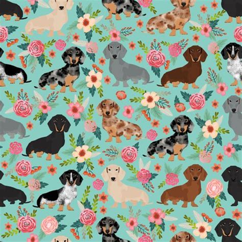 best material for dogs doxie dachshunds florals fabric best designs dogs florals vintage