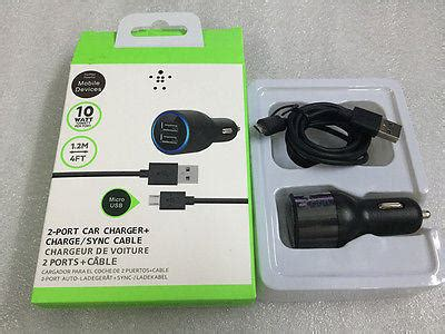 Car Charger Welcomm Apolo 2 Port new for belkin 2 port usb car charger lightning cable