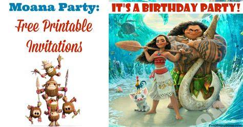 moana birthday card template moana invitations free printable invitations for a moana