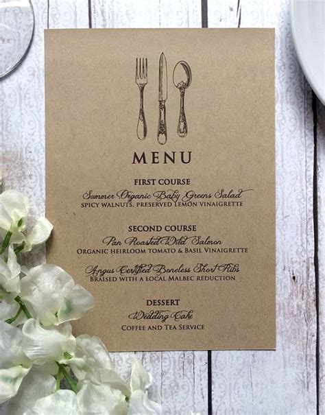 how to make wedding menu cards 25 best ideas about menu cards on wedding