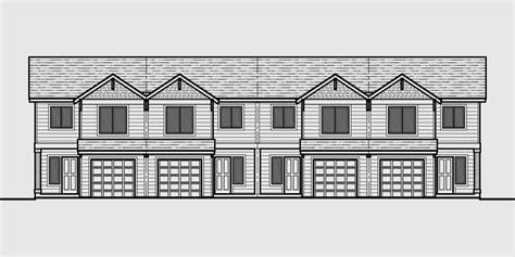 townhouse building plans 4 plex building plans 4 bedroom house plans row house plans