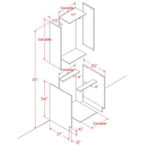kitchen cabinet diagram using basic polygon editing to create a base cabinet