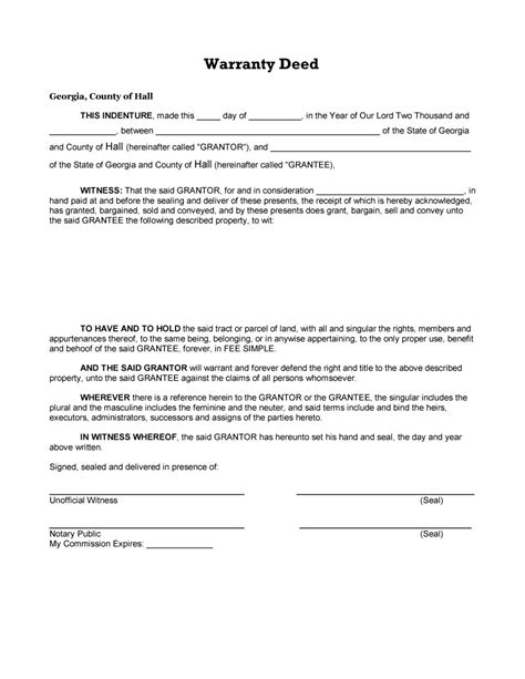 deed template free 40 warranty deed templates forms general special