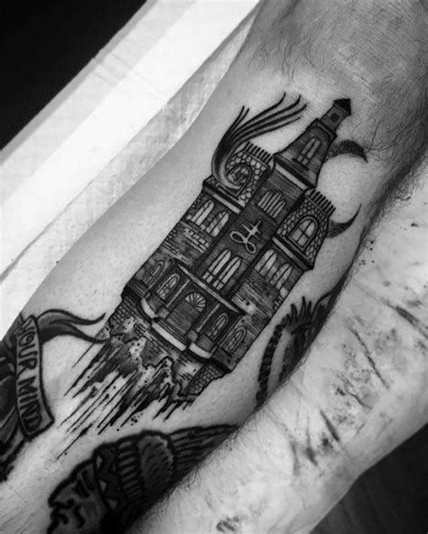 haunted house designers 60 haunted house tattoo designs for men spooky spot ink ideas