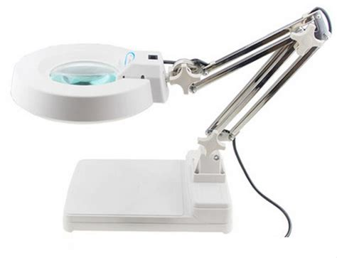 table l with magnifying lens 110v 10x loupes glass lens diopter desk table lighting led