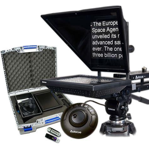 teleprompter controller autocue qtv 10 quot prompter package qstart ocu ssp10 promo