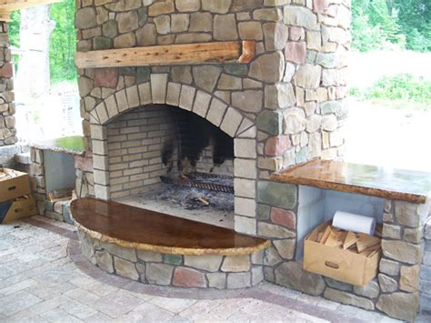 Patio Pavers Wood Stove Klein S Lawn Landscaping Hardscapes Fireplaces
