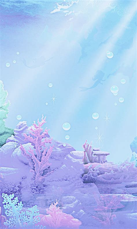 the mermaid background my rainbow magical disney themed mobile backgrounds