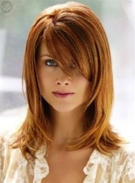 haircuts with side bangs pinterest layered medium haircut with side bangs 10 best images