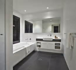 charcoal tile bathroom white bathroom with charcoal floor tiles and caesarstone
