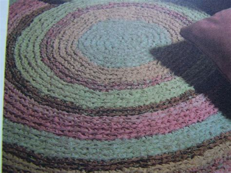 rag rug design patterns vintage crocheted fabric rag rug pattern 1 cent usa shipping specials