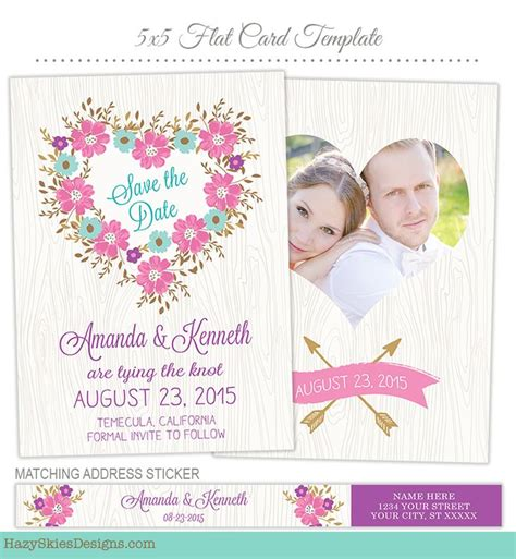 17 Best Images About Wedding Engagement Templates For Photographers On Pinterest Template Save The Date Template Psd