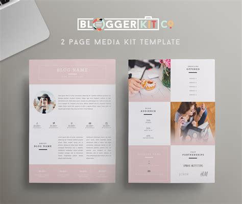 Beauty Blogger Pink Media Kit Template Diy Media Kit Templates Blogging Tips Blogger Press Pack Template