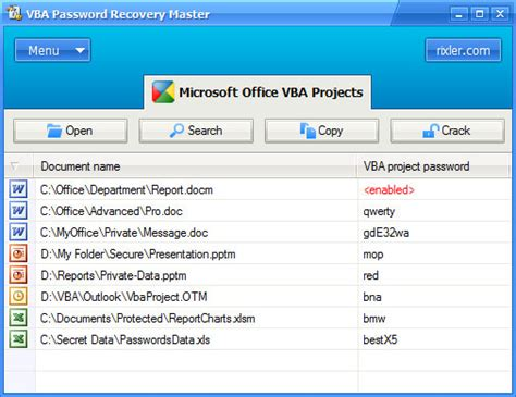recovery password vba excel free vba password recovery master free download vba password