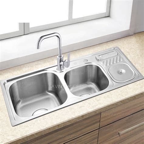 double sink kitchen double sinks brushed nickel stainless steel kitchen sinks